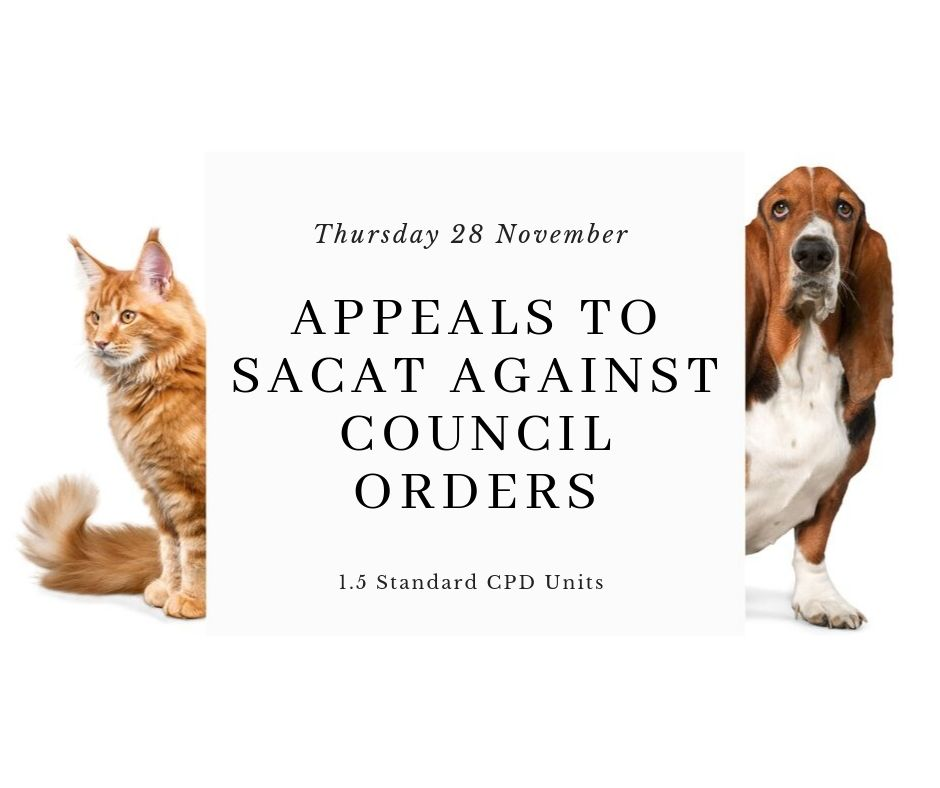 Appeals To SACAT Against Council Orders